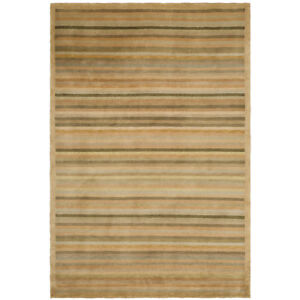 Tibetan Latte Stripe Area Rug