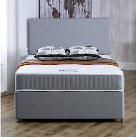 Sameday/ Next Day Delivery Single Double Bed ORTHOPAEDIC Mattress Light Grey Factory Direct SALE