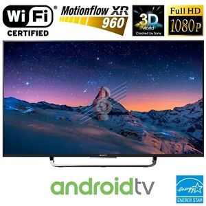 Open Box Sony 50 inch ANDROID 3D smart LED tv Model: KDL50W800C