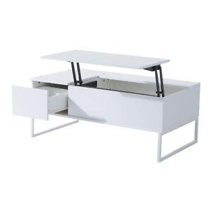 Table à Thé blanche avec Tiroir Plateau **NEUF**ENVOI GRATUIT**