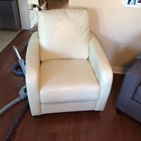 White Pleather Accent Chair