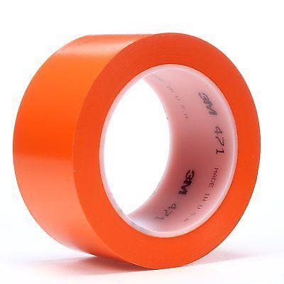 3m Vinyl Tape 471 Orange 12 Inch X 36 Yard 5.2 Mil Thick 1-roll