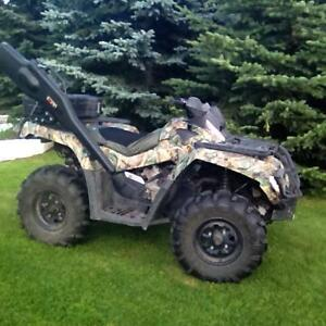 2007 can am XL 800 quad for sale or trade