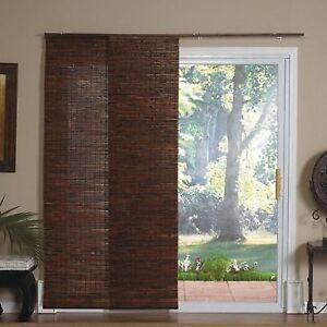 Store panneaux porte patio et fenetre bambou