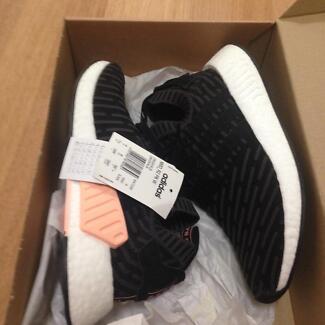 Adidas NMD R2 PK size 7.5 women 6.5 men black pink white