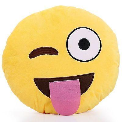Ein Emoji-Kissen