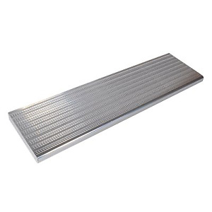 """Two 48"""" aluminum stair treads"""