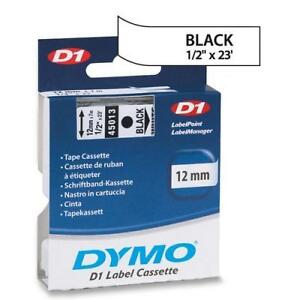 Dymo D1 LABEL 12mm x 7m - Black on White 45013 SPECIAL