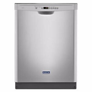 Lave-vaisselle 24''Maytag, Broyeur, Acier inoxydable