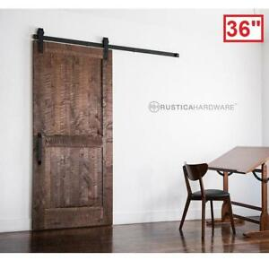 "NEW RUSTICA HARDWARE SLIDING DOOR - 120380023 - 36"" x 84"" STAIN GLAZE CLEAR ROCKWELL BARN DOORS WOOD INTERIOR CLOSET ..."
