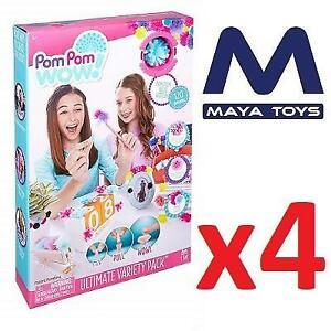 4 NEW POM POM WOW VARIETY PACK 48528 240429068 MAYA TOYS