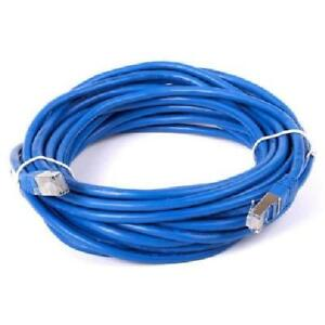 100 ft. Blue Cat7 600MHz Screened Shielded Twisted Pair (S/STP) Network Cable with Metal Connectors