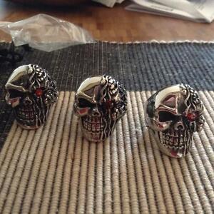 Biker, Skull, Harley Rings