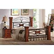 Oak Double Bed with Mattress
