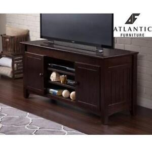 NEW* ATLANTIC FURNITURE TV STAND - 131837526 - NANTUCKET 50'' ENTERTAINMENT CONSOLE