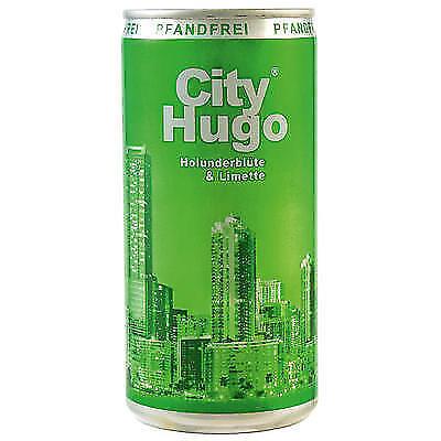 48 Dosen City Hugo 6.9% Holunderblüte & Limette aromatisiert a 0,2L 9,6 Liter