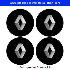 sticker renault noir pour cache moyeu de jante lot de 4 ebay. Black Bedroom Furniture Sets. Home Design Ideas
