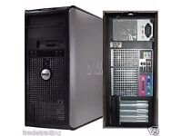 Windows 7 Dell Core 2 Duo 3.00GHz Tower PC Computer - 8GB RAM - 500GB HD Wi-Fi