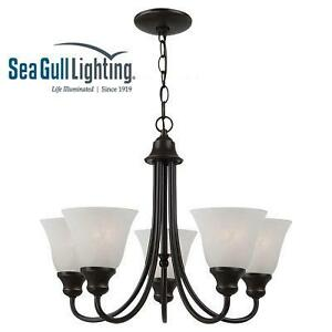 NEW SGL 5-LIGHT CHANDELIER SEA GULL LIGHTING HEIRLOOM BRONZE CHANDELIER 108023185