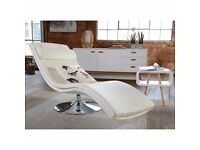 Swivel base faux leather lounger - Chaise Lounge