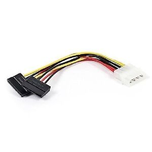 6 in. SATA Serial ATA Splitter Power Cable (1 X 5.25 to Two (2)