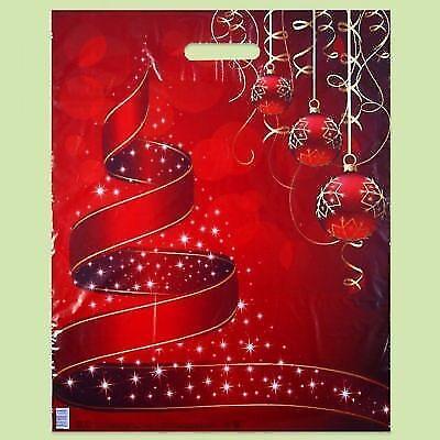nachten gedruckt rot Kunststoff Geschenk Tragetaschen... (Gedruckt Geschenk-taschen)