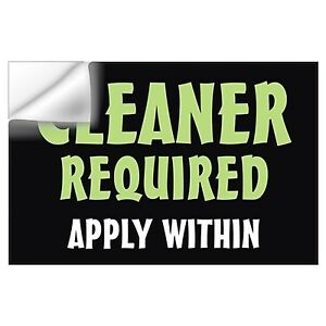 Cleaner Required for Office