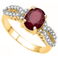 NEW PREMIUM AFRICAN RUBY & WHITE DIAMONDS SET IN STERLING SILVER