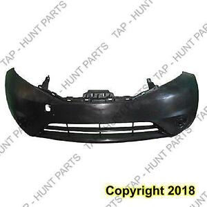 Bumper Front Hatchback Note Exclude SR Primed Must Cut For Use With Fog Light Hole Nissan VERSA HTACH BACK 2014-2016