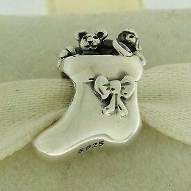 Genuine Pandora Christmas stocking charm 791038