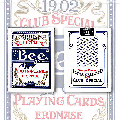 BLUE Erdnase 1902 BEE Playing Cards Smith No.2 Cambric Finish LTD Magic Trick