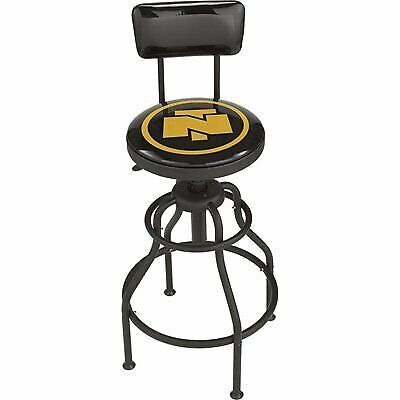 Portable 360 Degree Swivel Shop Stool with Padded Vinyl Seat and Backrest
