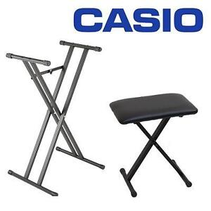 NEW CASIO KEYBOARD BENCH AND STAND DELUXE STAND AND X-STYLE ADJUSTABLE BENCH 102834889