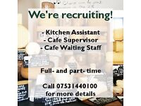 CAFE AND KITCHEN ROLES - DAYTIME HOURS - SETTLE, YORKSHIRE