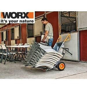 NEW WORX 4CU AEROCART WG050 138114953 DOLLY POT MOWER TRAILER MOVER AND MORE