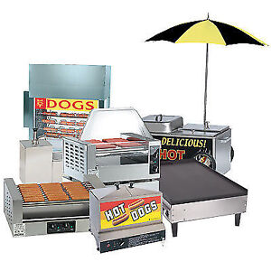 Hot Dog Grills, Cookers, Steamers, Rotisseries, Bun Warmers, ETC