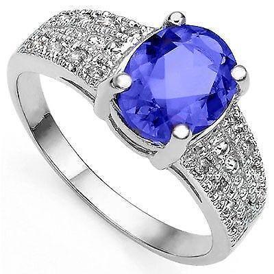 Tanzanite And Diamond Ring Ebay