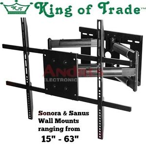 """Sonora and Sanus TV wall Mounts from 15""""- 63"""""""