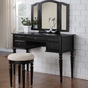 Makeup vanity- Black (like new!)
