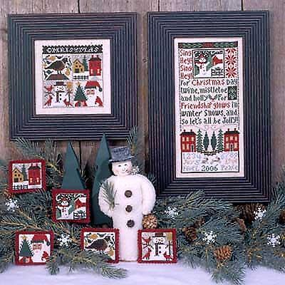 The Prairie Schooler CHRISTMAS DAY Cross Stitch Chart Book Pattern No. 134 EUC