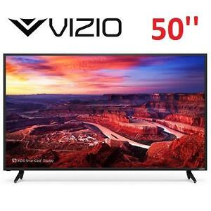 NEW OB VIZIO 50'' 4K SMART LED TV - 117906345 - HOME THEATER DISPLAY WITH BUILT IN CHROMECAST