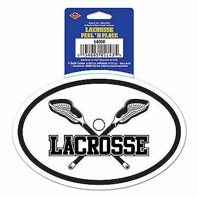 Lacrosse Peel 'N Place - White/Black (Lacrosse Decorations)
