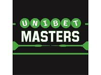 DARTS TICKETS UNIBET MASTERS MILTON KEYNES SATURDAY NIGHT 27TH JANUARY TABLE SEATS