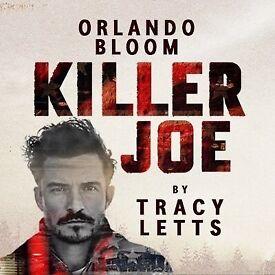 2x tickets to Killer Joe, Saturday 16th June Row A (Orlando Bloom)
