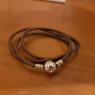 Pandora 50cm Brown Leather Bracelet