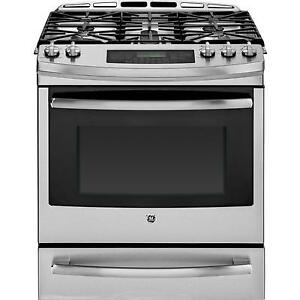 GE PC2S920SEFSS Dual Fuel Freestanding Convection Range, 30 in,