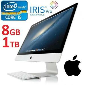 NEW APPLE 21.5 IMAC DESKTOP AIO PC - 132866291 - COMPUTER INTEL I5 8GB MEMORY 1TB HDD INTEL IRIS GRAPHICS OS X 2013 E...