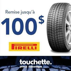 Remise jusqu'à 100$ ou 125 dollars CAA à l'achat de 4 pneus sélectionnés.