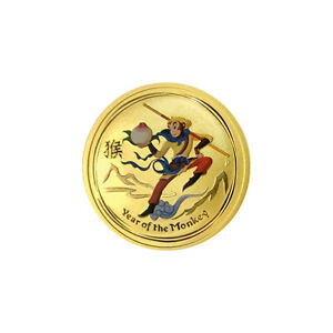 Pièce or/bullion gold monkey king 2016 1/4 oz
