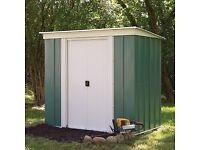 6 x 4. Greenvale Pent Metal Shed. New. Flatpack. PICK UP TODAY.